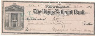 Usa - 1915 - The Riggs National Bank - Check 50 Dollars photo