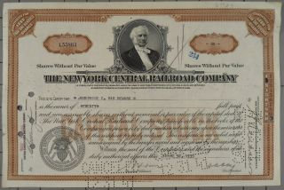 1935 York Central Railroad Company Stock Certificate photo