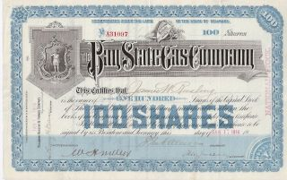 The Bay State Gas Company. . . . . . .  1908 Stock Certificate photo