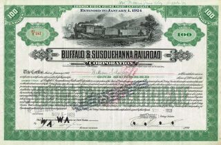 Usa Buffalo & Susquehanna Railroad Corp Stock Certificate Common photo