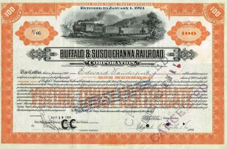 Usa Buffalo & Susquehanna Railroad Corp Stock Certificate Preferred photo