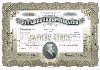 Usa Pullman Incorporated Stock Certificate photo