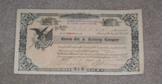 United Oil And Refining Corp Stock Certificate 1919 photo