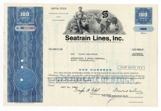 Seatrain Lines,  Inc Stock Cert. photo