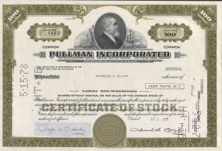 Usa Pullman Cincorporated Stock Certificate photo