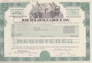 Rjr Holding Group Inc. . . . . . . .  Debenture Due 2007 photo