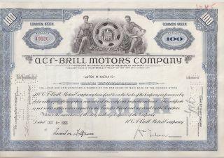 Acf - Brill Motors Company. . . . . .  1955 Stock Certificate photo