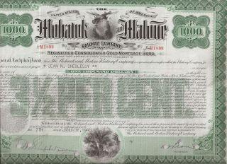 Mohawk And Malone Railway Company. . . . .  Gold Mortgage Bond photo