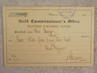 Antique 1906 Gold Commissioner ' S Office Registered Documents Yukon Terr Canada photo