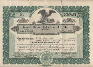 1919 Homer Union Petroleum Co Louisiana 10 Shares (ms114) photo