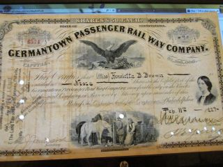 Germantown Passenger Rail Way Co.  With Vignette Of Florence Nightingale photo