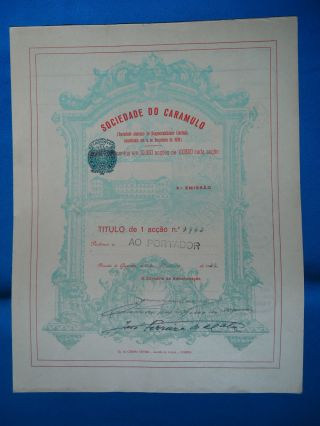 Portugal Share Sociedade Do Caramulo 2 EmiÇÃo 1000 Escudos 1932 Look Scans photo