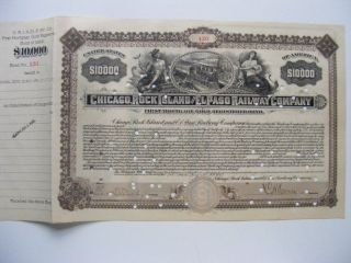 1903 $10,  000 Chicago,  Rock Island & El Paso Railway Co. photo
