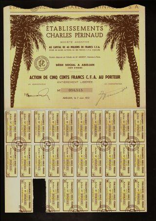 Africa / Ivory Coast : Ets Charles Perinaud Abidjan Dd 1951 photo