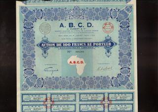 Africa / Dahomey A.  B.  C.  D.  J Aubert & Cie Porto Novo Dd 1928 photo
