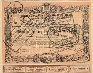 France Vendee Railway Stock Certificate 1863 photo