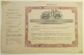 Vintage / Editorial Borinquen / Obsolete Bond / 1940 ' S / S.  J.  Puerto Rico photo