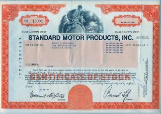 Standard Motor Products,  Inc.  Stock Certificate York photo
