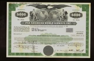 Pan Am American World Airways Usd 5,  000 Bond 1970s photo