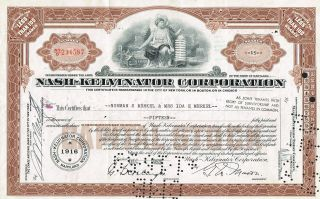 Usa Nash - Kelvinator Corporation Stock Certificate photo