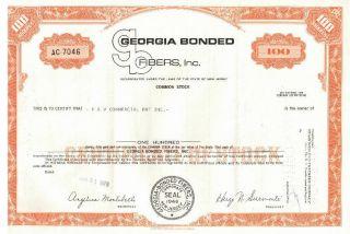 Georgia Bonded Fibers,  Inc.  Stock Certificate Ac7046 photo