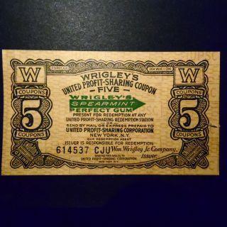 Wrigley ' S United Pofit - Sharing Coupon 5 Coupons photo