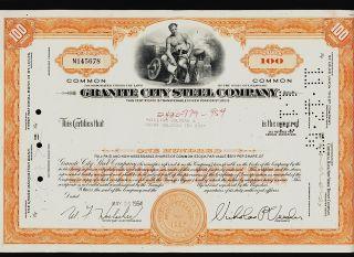 Granite City Steel Company Illinois Il (now U.  S.  Steel) Iss To William Goldman photo