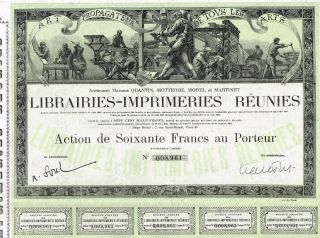 France Printing Company Stock Certificate photo