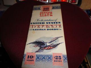 Vtg.  United States War Savings Bond 10 Cent Stamp Album With 5 Ten Cent War Stamp photo