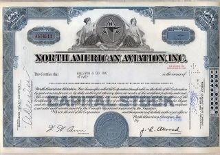 North American Aviation Stock Certificate Now Boeing photo