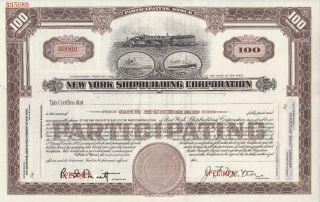 1916 York Shipbuilding Corporation Specimen Stock Certificate Rare Ny City photo