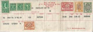 1943 At&t Stock Bill Of Revenue Receipt $153.  00 Per / L.  F.  Rothschild & Co. photo