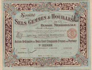 Russia Coal Co Certificate 1911 Southern Russia photo