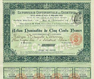 France The Cosmydor Soap Company Stock Certificate 1898 photo