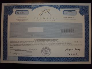 Pinnacle Airlines Corp.  Stock Certificate photo