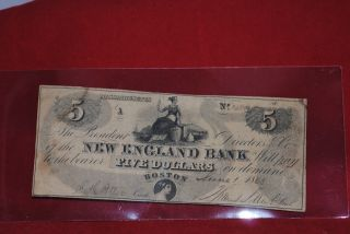 Scripophily 5.  00 Warrant 1050 From England Bank 6/1/1868 photo