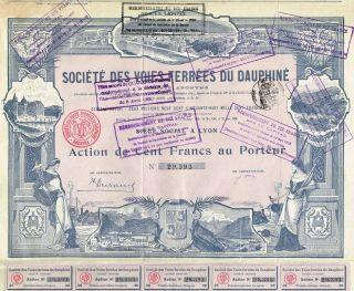 France Dauphin Railway Company Stock Certificate 1906 photo