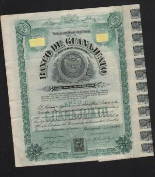 Mexico,  Banco De Guanajuato 1906,  Winston Churchill Bond photo