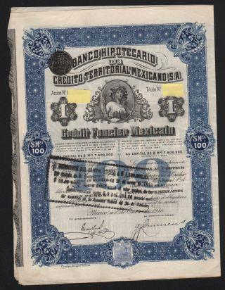 Banco Hypotecarion De Credito Territoral Mexicano 1914 photo