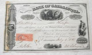 1868 - The National Bank Of Catasauqua Stock Certificate photo