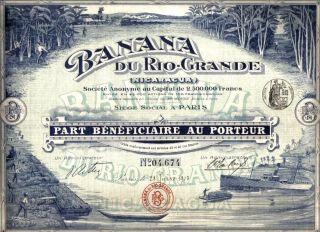 Nicaragua Bond 1913 Banana Rio Grande Company Uncancelled Top Deco Coup photo