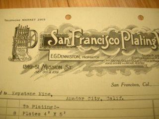 1915 San Francisco Plating Mining Bill Stamp Mill Graphic Keystone Mine photo