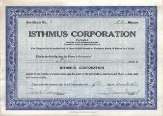 Panama Bond 1931 Isthmus Co 10 Shares Uncancelled Rare photo