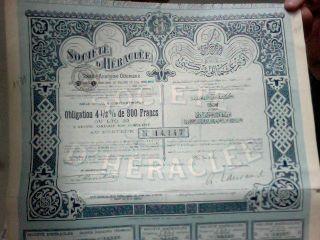 Société D ' Héraclée - Bond 4,  5% 500 Frs - 1913 Constantinople photo