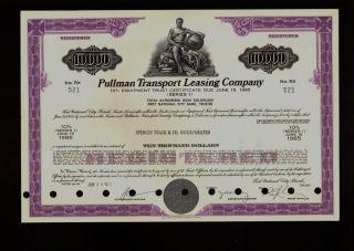 Pullman Transport Leasing Railcar Railroad (now Itel Ge Leasing) Old Bond photo