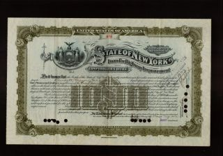 State Of York Loan For Highway Improvement Usd 1,  000 Old Bond photo