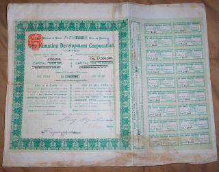 Uk Gb Argentina 1911 Famatina Development Corporation Mining £1 Uncancelled Coup photo