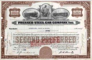 1941 Pressed Steel Car Co Stock Certificate photo
