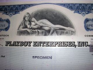 Playboy Stock Certificate - For Bachelor Party,  Graduates,  Father ' S Day photo
