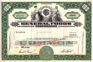 Stock Certificate - General Foods 1971 photo